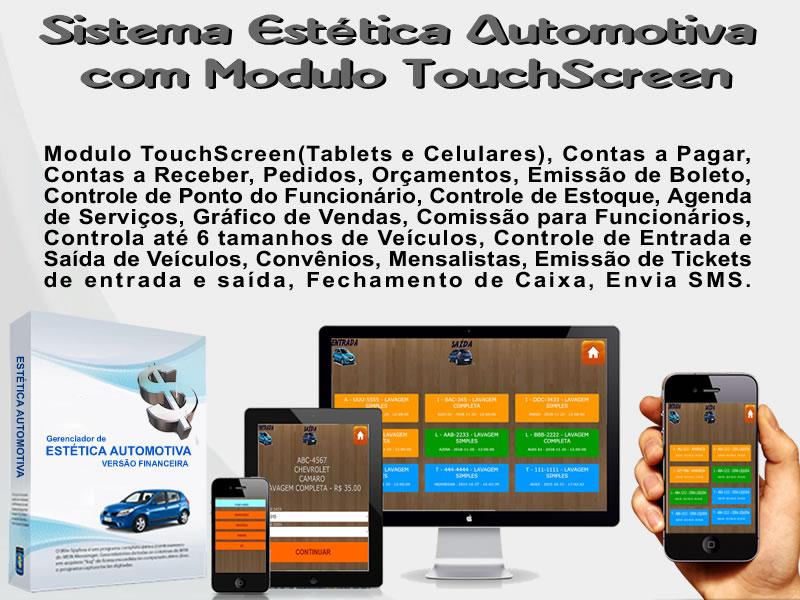 Sistema Estética Automotiva com Modulo TouchScreen -  SISTEMA DESCOMPLICADO