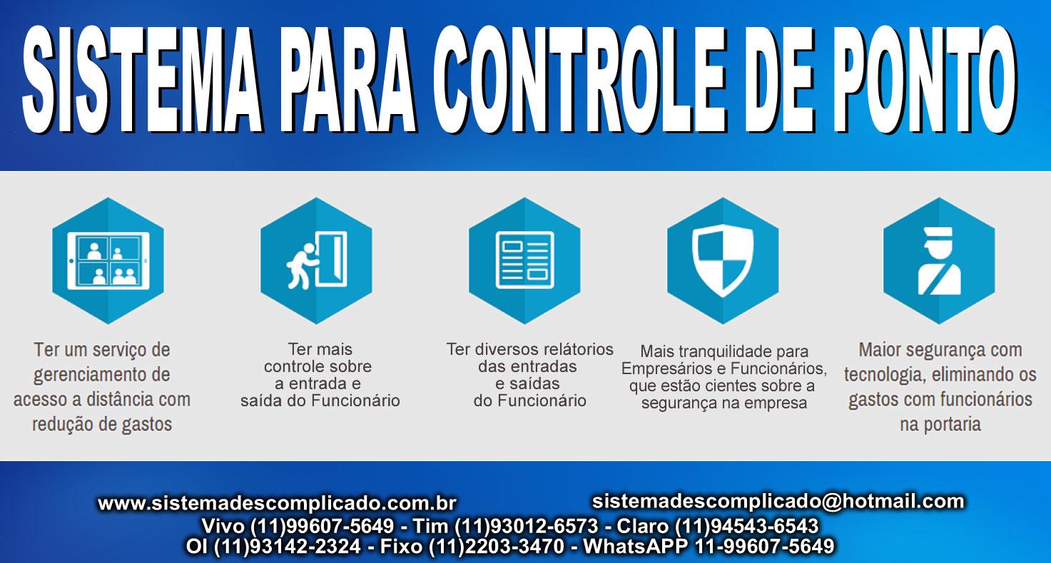 Software Controle de Ponto -  SISTEMA DESCOMPLICADO